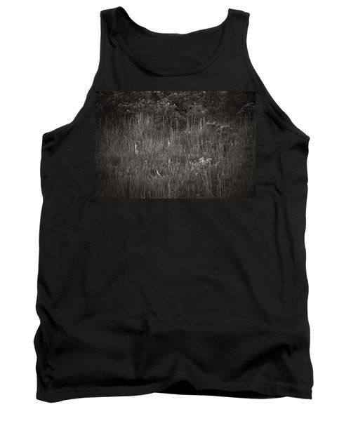 Tank Top featuring the photograph Two Deer Hiding by Bradley R Youngberg