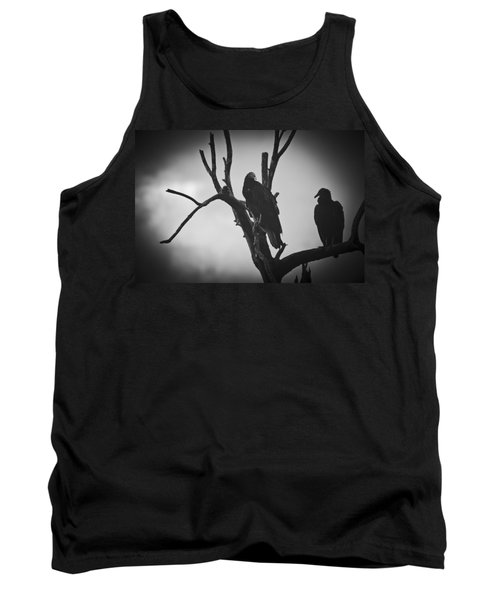 Tank Top featuring the photograph Two Vultures by Bradley R Youngberg
