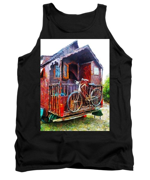 Two Wheels On My Wagon Tank Top by Steve Taylor