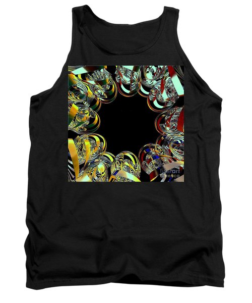 U Of M Robot Huddle Tank Top by Greg Moores