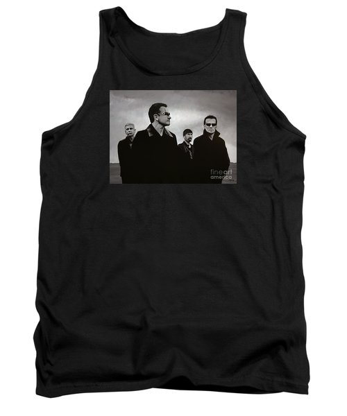 U2 Tank Top by Paul Meijering