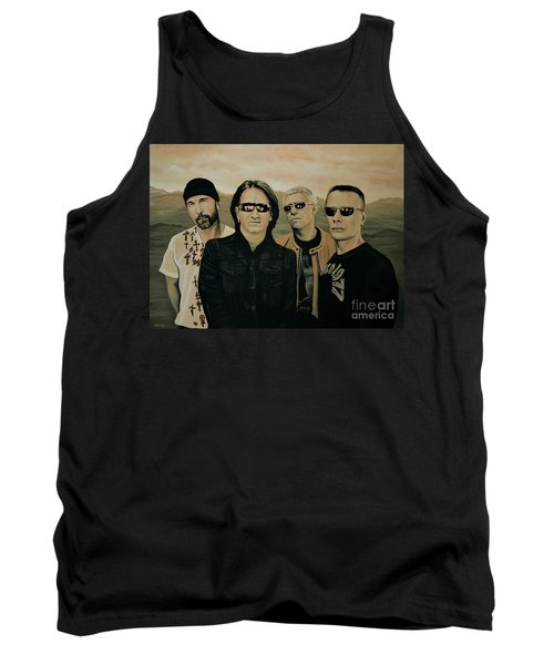 U2 Silver And Gold Tank Top