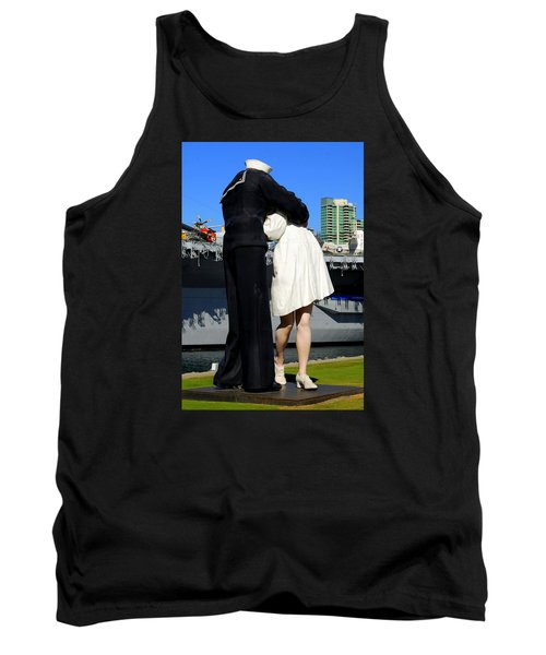 Tank Top featuring the photograph Unconditional Surrender Kiss by Caroline Stella