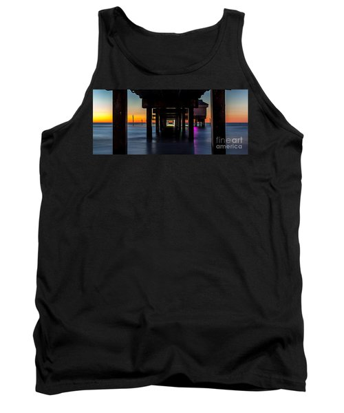 Under Clearwater Beach Pier Tank Top by Steven Reed