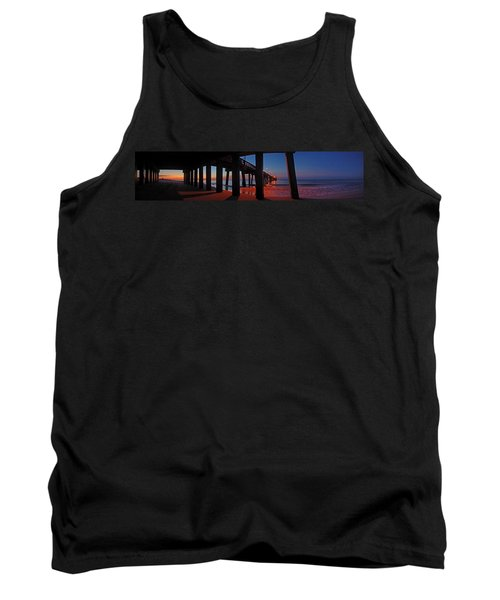 Under The Gulf State Pier  Tank Top by Michael Thomas