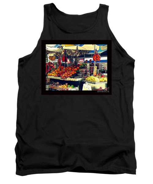 Tank Top featuring the photograph Under The Umbrellas by Miriam Danar