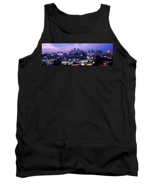 Union Station At Sunset With City Tank Top