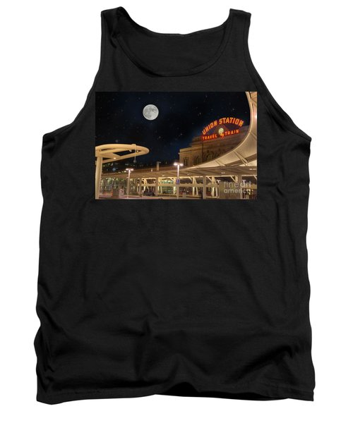 Union Station Denver Under A Full Moon Tank Top by Juli Scalzi