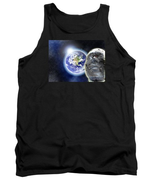 Alone In The Universe Tank Top by Stefano Senise