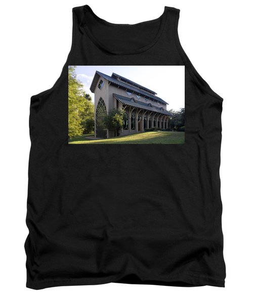 Tank Top featuring the photograph University Of Florida Chapel On Lake Alice by Lynn Palmer