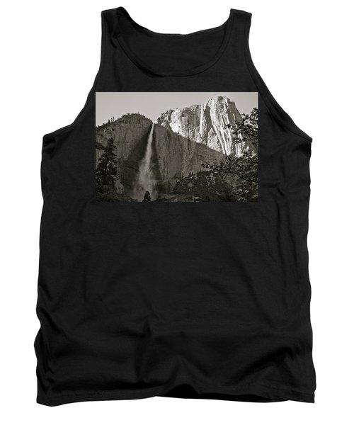 Upper Yosemite Falls Composition In Triangles Tank Top