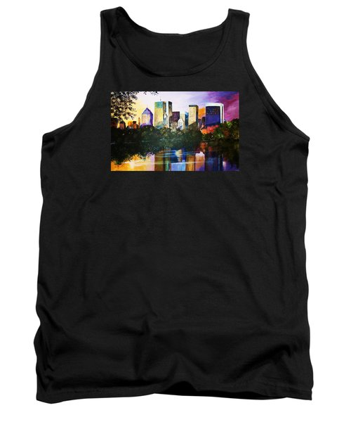 Tank Top featuring the painting Urban Reflections by Al Brown