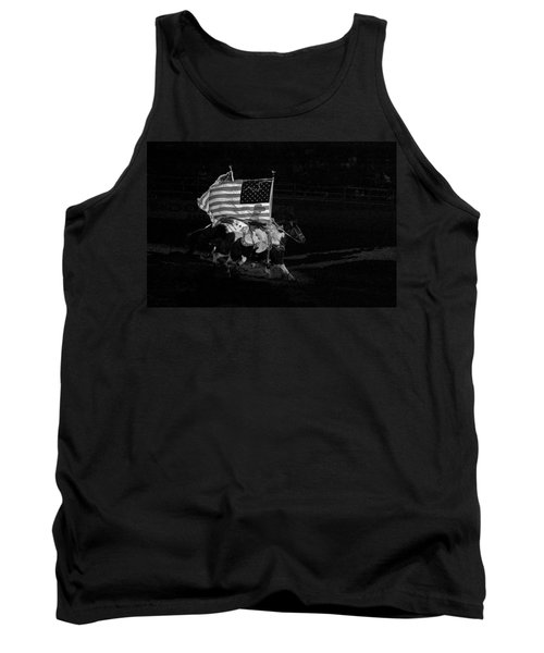 Tank Top featuring the photograph U.s. Flag Western by Ron White
