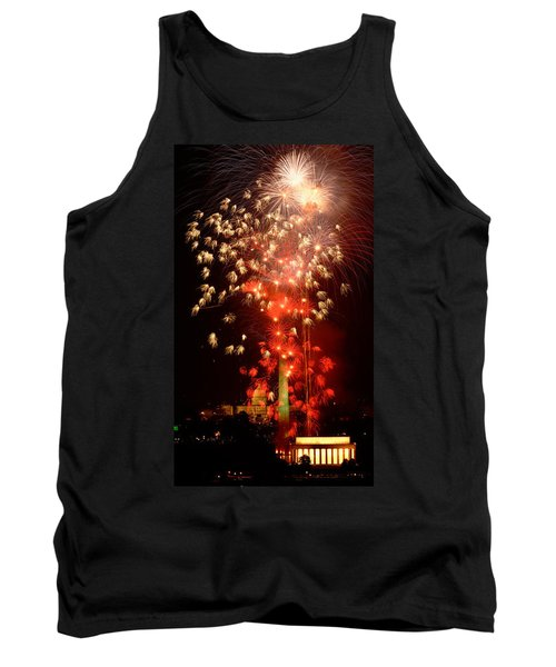 Usa, Washington Dc, Fireworks Tank Top by Panoramic Images