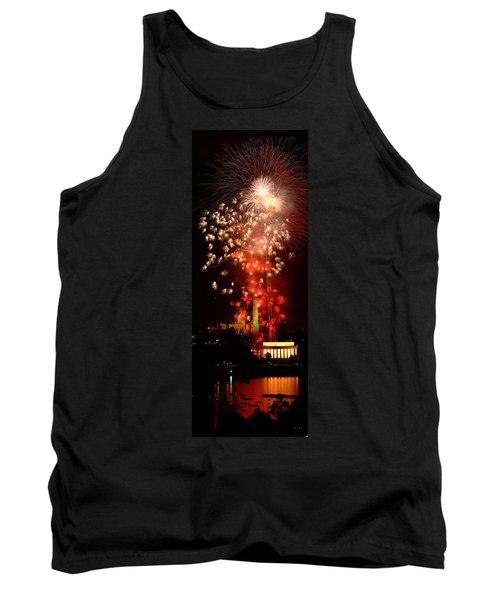 Usa, Washington Dc, Fireworks Tank Top
