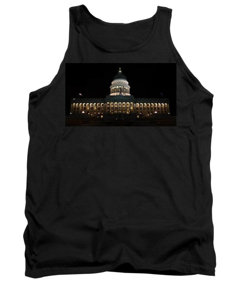 Tank Top featuring the photograph Utah State Capitol Front by David Andersen