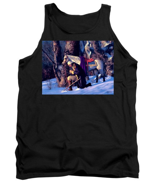 Tank Top featuring the painting Valley Forge by Dave Luebbert