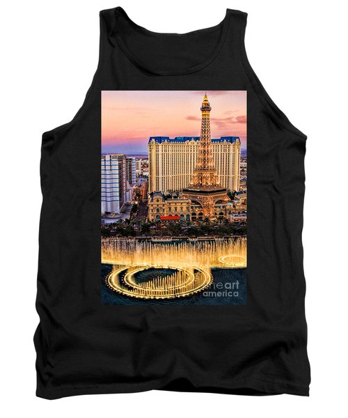 Tank Top featuring the photograph Vegas Water Show by Tammy Espino