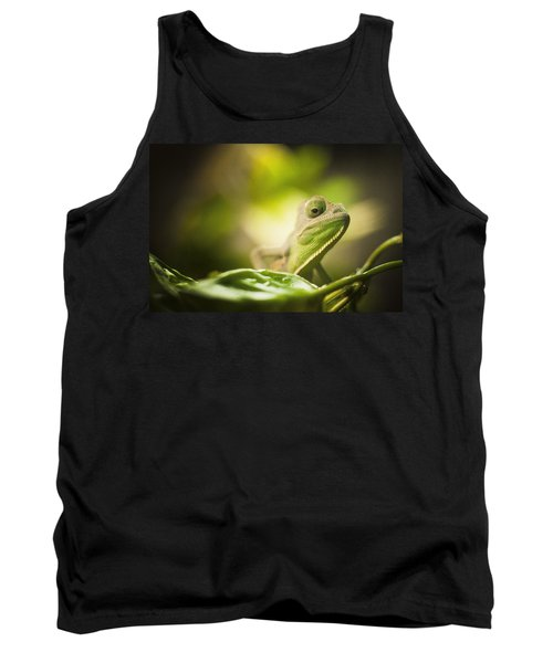 Veiled Chameleon Is Watching You Tank Top by Bradley R Youngberg