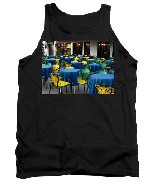 Tank Top featuring the photograph Venetian Cafe by Robin Maria Pedrero