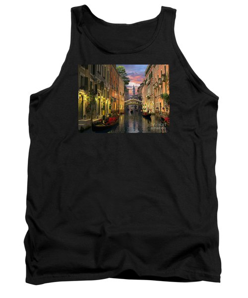 Venice At Dusk Tank Top by Dominic Davison