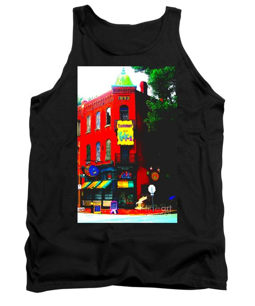 Venice Cafe' Painted And Edited Tank Top