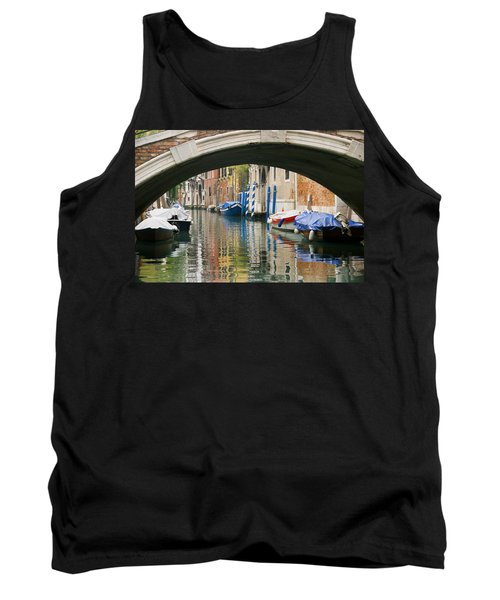 Tank Top featuring the photograph Venice Canal Boat by Silvia Bruno