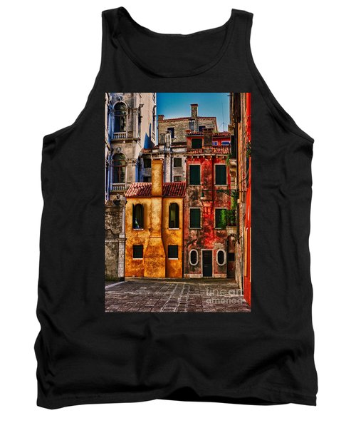 Tank Top featuring the photograph Venice Homes by Jerry Fornarotto