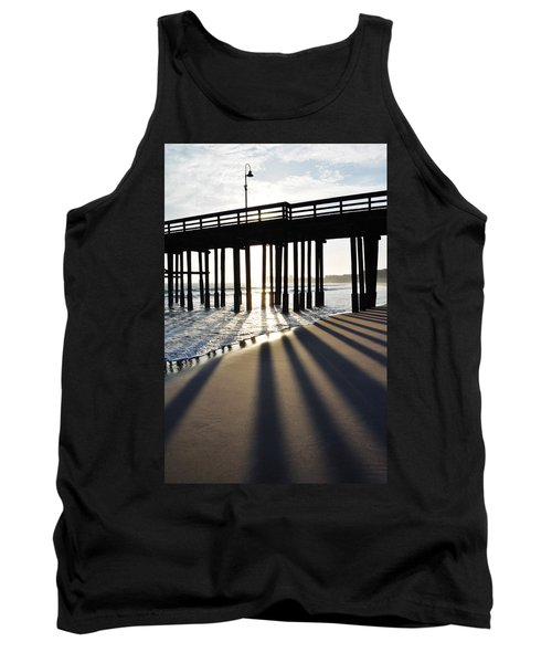 Tank Top featuring the photograph Ventura Pier Shadows by Kyle Hanson