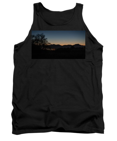 Tank Top featuring the photograph Venus And A Young Moon Over Tucson by Dan McManus