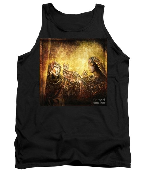 Veronica Wipes His Face Via Dolorosa 6 Tank Top by Lianne Schneider
