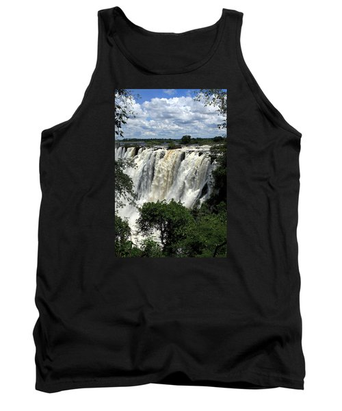 Victoria Falls On The Zambezi River Tank Top by Aidan Moran