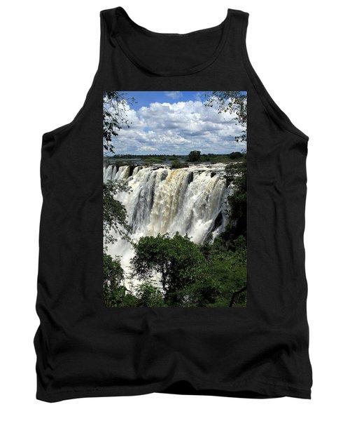 Victoria Falls On The Zambezi River Tank Top