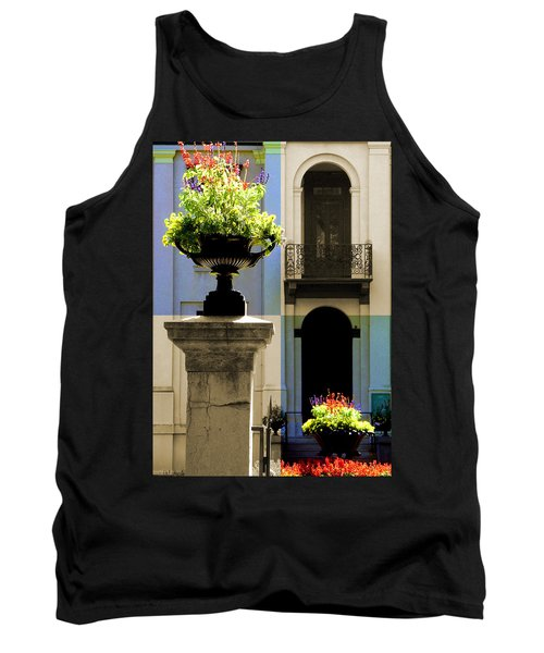 Victorian House Flowers Tank Top