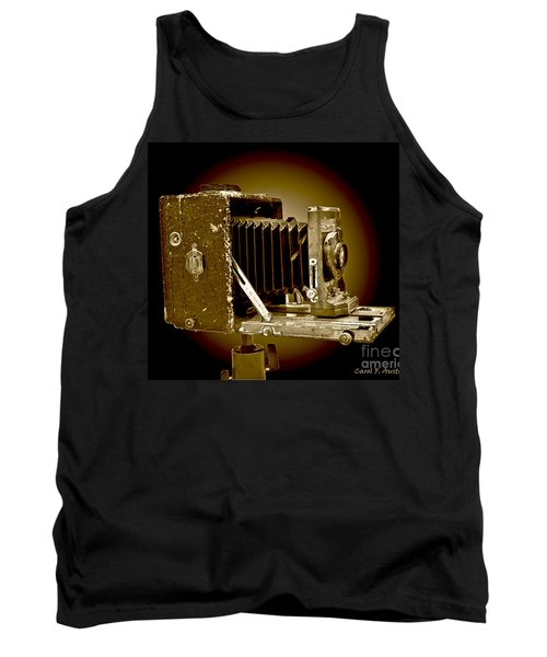 Vintage Camera In Sepia Tones Tank Top