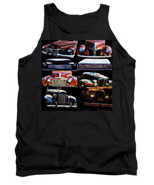 Vintage Cars Collage 2 Tank Top by Cathy Anderson
