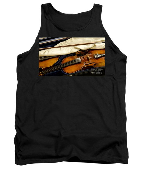 Vintage Fiddle In The Case Tank Top