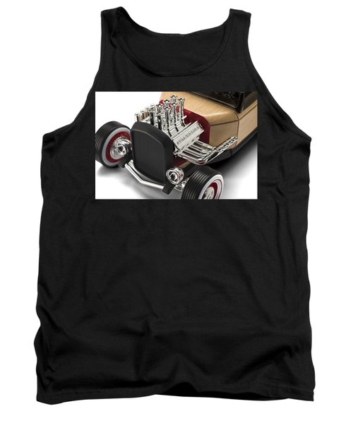 Tank Top featuring the photograph Vintage Hot Rod Engine by Gianfranco Weiss