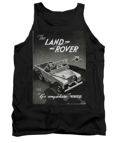 Vintage Land Rover Advert Tank Top