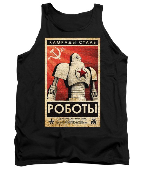 Vintage Russian Robot Poster Tank Top