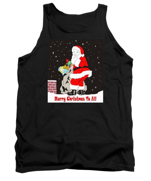 Tank Top featuring the photograph Vintage Santa by Paul Mashburn