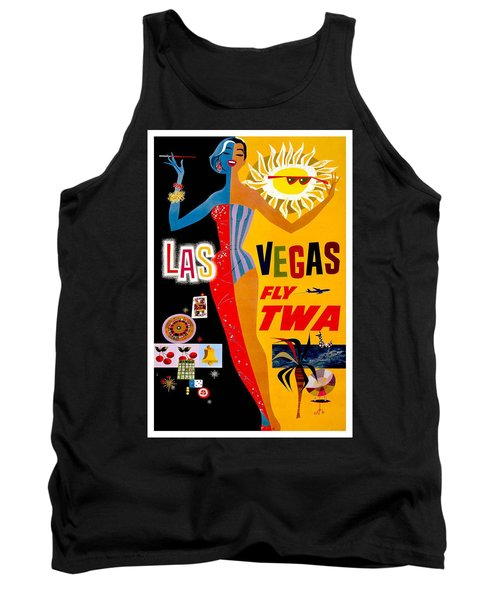 Vintage Travel Poster - Las Vegas Tank Top