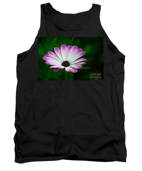 Violet And White Flower Petals With Yellow Stamens Blossoms  Tank Top by Imran Ahmed