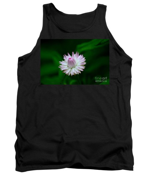 Violet And White Flower Sepals And Bud Tank Top