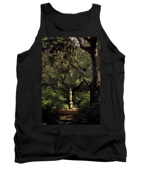 Tank Top featuring the photograph Virginia Dare Statue by Greg Reed