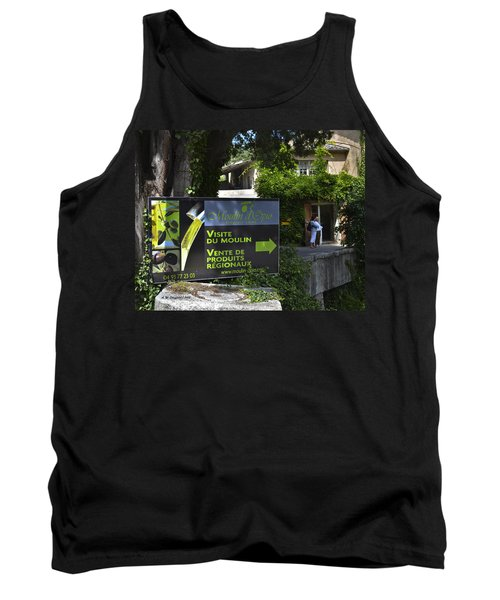 Tank Top featuring the photograph Visite Du Moulin by Allen Sheffield