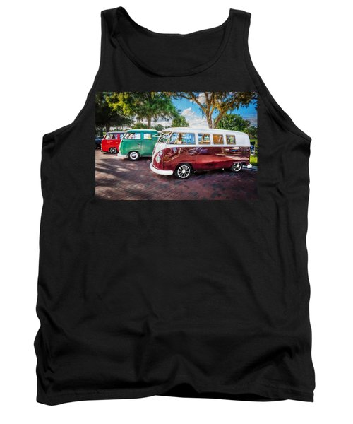 Vw Bus Stop 1964 1961 1968 Vans Trucks Painted Tank Top