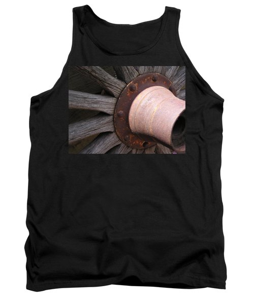 Tank Top featuring the photograph Wagon Wheel by Diane Alexander