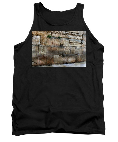 Tank Top featuring the photograph Wailing Wall In Israel by Doc Braham
