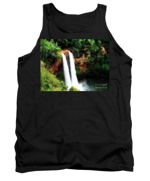 Tank Top featuring the photograph Wailua Falls by Kristine Merc